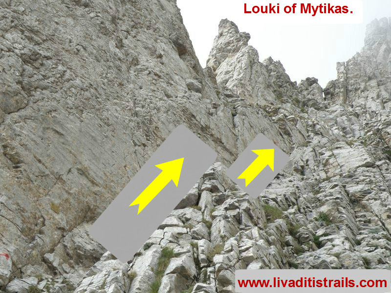 Summit of Pantheon (Mytikas) at an altitude of 2.918,20 m. through louki. Starting from the Plateau of Muses.